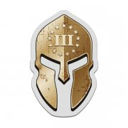 3 Three Percenter Spartan Helmet Decal American Patriot Sticker V1