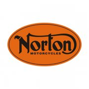 Norton Motorcycles Orange Oval Sticker Decal V1