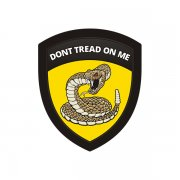 Don't Tread on Me Flag Gadsden Snake Shield Badge Sticker Decal