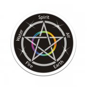 Pentacle Spirit Air Earth Fire Water Sticker Decal