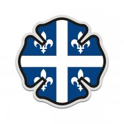 Quebec Flag Firefighter Decal QC Fire Rescue Maltese Cross Sticker