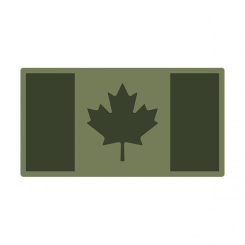 Canada Olive OD Green Subdued Flag Canadian Military Decal Sticker V3
