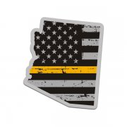 Arizona State Thin Gold Line Decal AZ Tattered American Flag Sticker