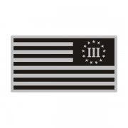 3 Percent Gray Black Subdued Flag Special OPS Nyberg Decal Sticker (LH) V3
