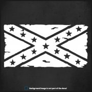 "Confederate Rebel Distressed Flag Decal 6""x3"" Jeep Wrangler TJ YJ JK JL Sticker"