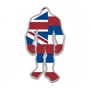 Hawaii State Flag Bigfoot Decal HI Sasquatch Big Foot Sticker