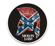 Molon Labe Spartan Helmet Rebel Flag Sticker Decal V2
