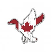 Duck Waterfowl Canadian Flag Canada Sticker Decal (LH)