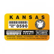 "Kansas Ghost Hunting Permit 4"" Sticker Decal"