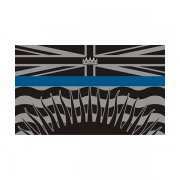 British Columbia Provincial Flag Thin Blue Line BC Police Sheriff Sticker Decal