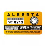 "Alberta Ghost Hunting Permit 4"" Sticker Decal"