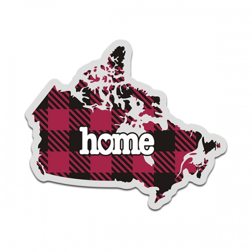 Canada Buffalo Plaid Decal Canadian Checkered Home Map Vinyl Sticker