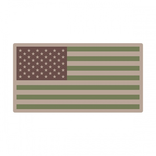 American Multicam Subdued Flag US Military USA Decal Sticker (RH) V3