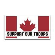 Canada Support Our Troops Flag Decal Sticker CA Canadian Military V3