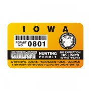 "Iowa Ghost Hunting Permit 4"" Sticker Decal"