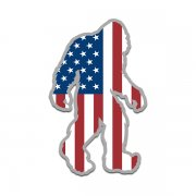 American Flag Bigfoot Decal USA United States Sasquatch Big Foot Sticker V2