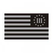 3 Percenter Nyberg Subdued Threeper Flag (LH) Sticker Decal