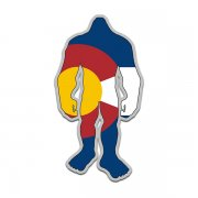 Colorado State Flag Bigfoot Decal CO Sasquatch Big Foot Sticker