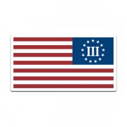 3 Percent Flag Three Percenter Nyberg Betsy Ross Decal Sticker (LH) V3