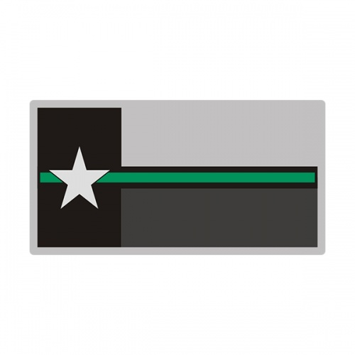 Texas Sticker Decal Vinyl Thin Green Line State Flag TX V3
