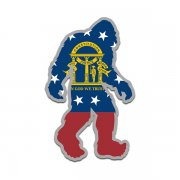 Georgia State Flag Bigfoot Decal GA Sasquatch Big Foot Sticker V2