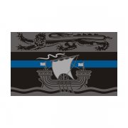 New Brunswick Provincial Flag Thin Blue Line NB Police Sheriff Sticker Decal