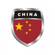 China Flag Shield Badge Sticker Decal