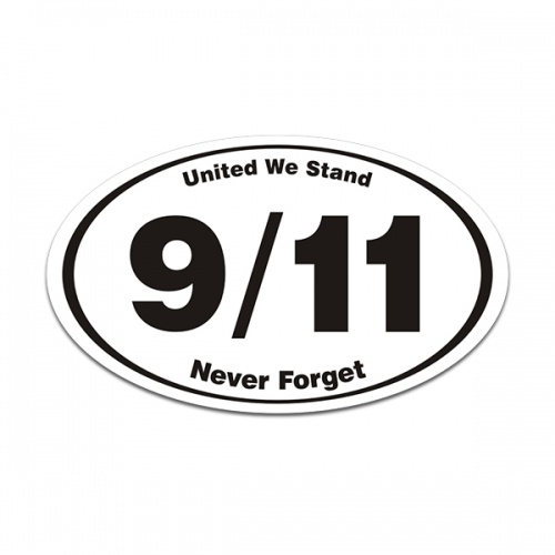 United We Stand Never Forget 9/11 Decal NYC WTC Memorial Vinyl Sticker