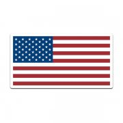 American Flag United States US USA Old Glory Forward Decal Sticker (RH) V3