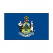 Maine State Flag ME Vinyl Sticker Decal