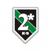 2* Asterisk Ass to Risk Thin Green Line Border Patrol K9 Sticker Decal