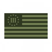 3 Percenter Olive Green Subdued Flag Decal Percent Nyberg Sticker (R)