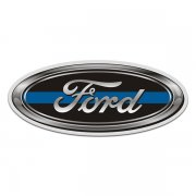 Ford Thin Blue Line Oval Sticker Decal