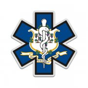Connecticut State Flag Star of Life CT EMT Paramedic EMS Sticker Decal