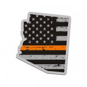 Arizona State Thin Orange Line Decal AZ Tattered American Flag Sticker