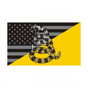 American Gadsden Subdued Flag Decal Dont Tread on Me Vinyl Sticker
