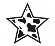 Star Cow Animal Skin Print Sticker Decal