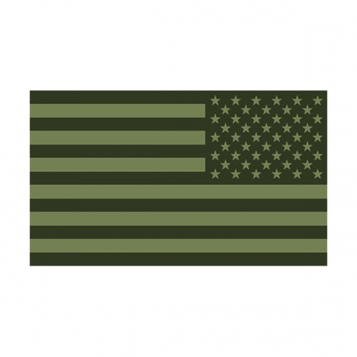 American Olive Green Subdued Flag Decal USA Drab OD Vinyl Sticker (LH)