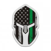 American Flag Thin Green Line Spartan Decal Border Patrol Sticker
