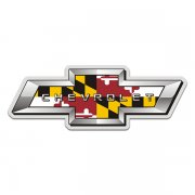 Chevrolet Maryland State Flag Bow Tie MD Chevy Sticker Decal
