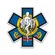 Idaho State Flag Star of Life ID EMT Paramedic EMS Sticker Decal