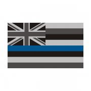 Hawaii State Flag Thin Blue Line HI Police Officer Sheriff Sticker Decal