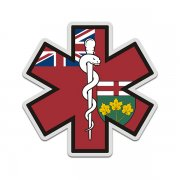 Ontario Flag Star of Life ON EMT Paramedic EMS Sticker Decal