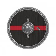 Thin Red Line Viking Warrior Shield Norse Firefighter Sticker Decal