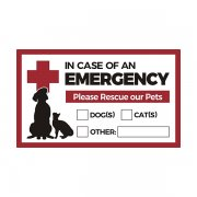 "In Case of Emergency Rescue our Pets 5""x3"" Sticker Decal V2"