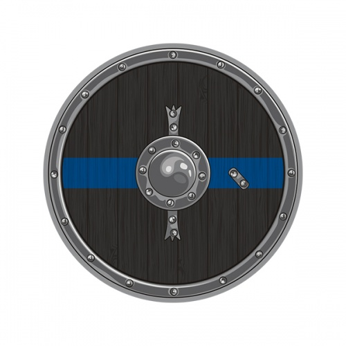 Thin Blue Line Viking Warrior Shield Norse Police Sheriff Sticker Decal