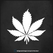 "Pot Leaf Decal 5""x4.5"" Cannabis Hemp Medical Marijuana Drug Vinyl Sticker"