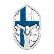 Finland Flag Spartan Helmet Decal Finnish Nordic Sticker