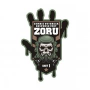 ZORU Zombie Outbreak Response Unit Vinyl Sticker Decal Olive Green Tan