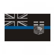 Manitoba Provincial Flag Thin Blue Line MB Police Officer Sheriff Sticker Decal